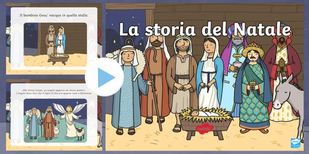 la storia del Natale PowerPoint  - Powerpoint, nativita\', storia del natale, Gesu, bambino, Natale, stalla, maria, giuseppe, stella