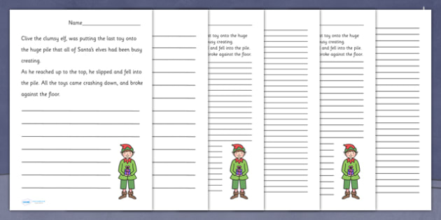 Nativity Story Starter Santa's Workshop Elf - christmas, xmas, story, starter, story starter, stories, writing, writing stories, story starter about a workshop elf, workshop elf, elf, literacy, writing aid, creative writing, writing prompt, writing i