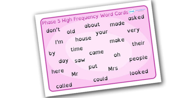 Phase 5 High Frequency Word Mat Dyslexia - phase 5 high frequency words, phase 5 hfw mat, phase 5 high frequency words in dyslexia font, dyslexia word mat