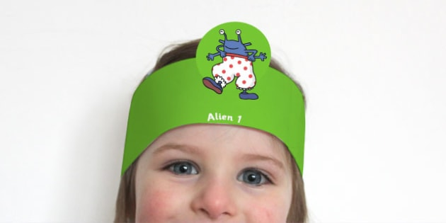 Role Play Headbands to Support Teaching on Aliens Love Underpants - roleplay, props