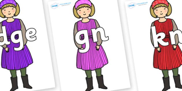 Silent Letters on Rapunzels Mother - Silent Letters, silent letter, letter blend, consonant, consonants, digraph, trigraph, A-Z letters, literacy, alphabet, letters, alternative sounds