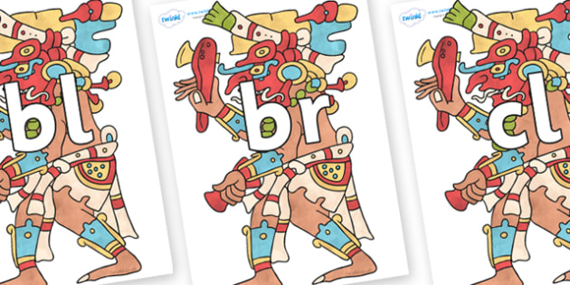 Initial Letter Blends on Chaak - Initial Letters, initial letter, letter blend, letter blends, consonant, consonants, digraph, trigraph, literacy, alphabet, letters, foundation stage literacy