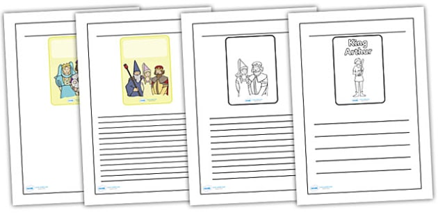 King Arthur Black and White Lined Writing Frames - king arthur, black, white, writing frame, lined writing frames, frames for writing, king arthur writing