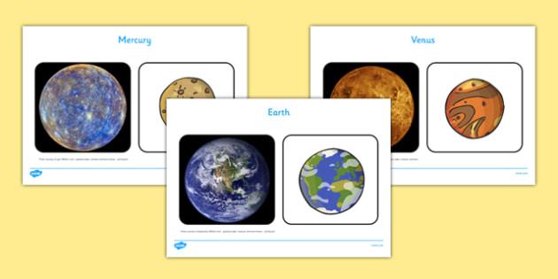 Space Planets Display Images Pack - Space, Solar System, sky, planets, telescope, surface, Mercury, Venus, Earth, Mars, Jupiter, Saturn, Uranus, Neptune, photo pack