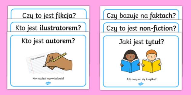 Plakaty Kącik czytelniczy po polsku