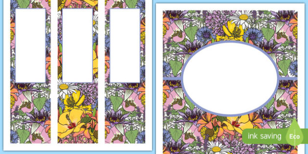 Floral Binder Cover