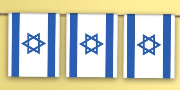 Israel Flag Bunting - israel flag, israel, flag, bunting, display bunting, display