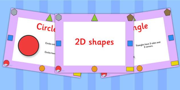 2D Shape Properties PowerPoint EYFS - shapes, 2D shapes, maths