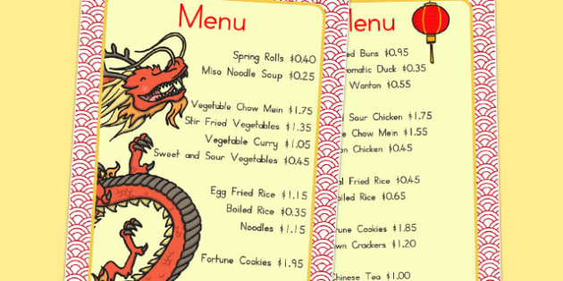 Chinese Restaurant Price Guide Penny Shop - australia, chinese