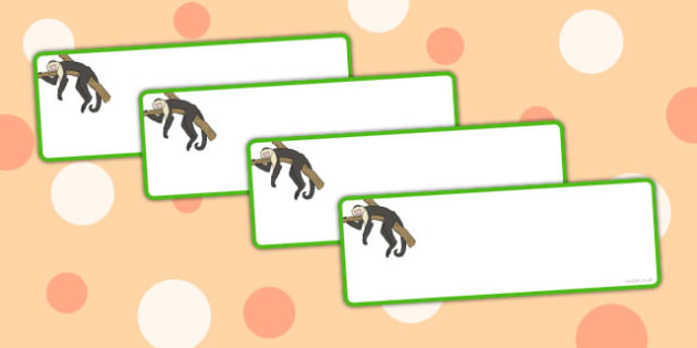 Monkey Themed Drawer Labels - monkey, drawer labels, labels