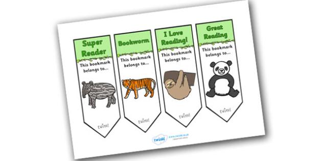 Jungle Themed Bookmarks - jungle themed bookmarks, bookmarks, jungle themed, jungle bookmarks, jungle