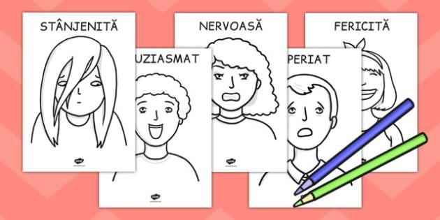 Noi și Emoțiile Noastre, Fișe de Colorat - preșcolari cine suntem, Romanian