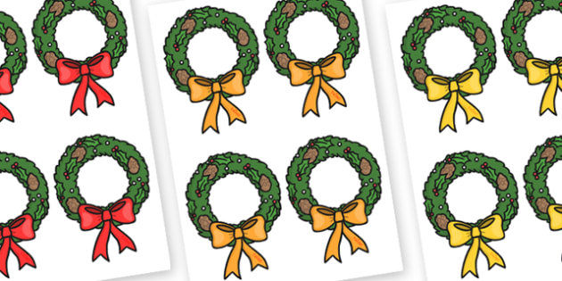 Christmas Wreath Editable - christmas, wreath, display, xmas