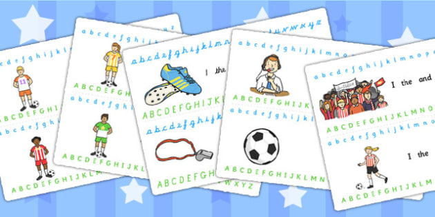 football world cup alphabet strips football sports