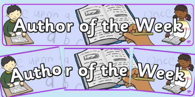 Author of the Week Display Banner - display banner, author, week