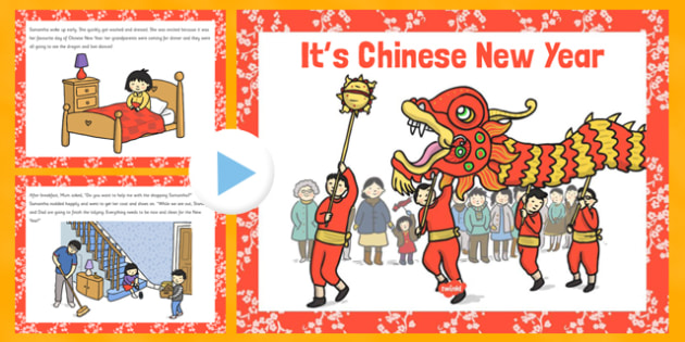 Its Chinese New Year EYFS Story PowerPoint - EYFS, KS1, Early Years, festival, celebration, Understanding the World, Literacy