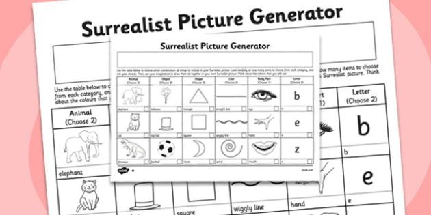 Surrealist Picture Generator - surrealist, picture, generator
