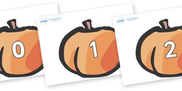 Numbers 0-50 on Peaches - 0-50, foundation stage numeracy, Number recognition, Number flashcards, counting, number frieze, Display numbers, number posters