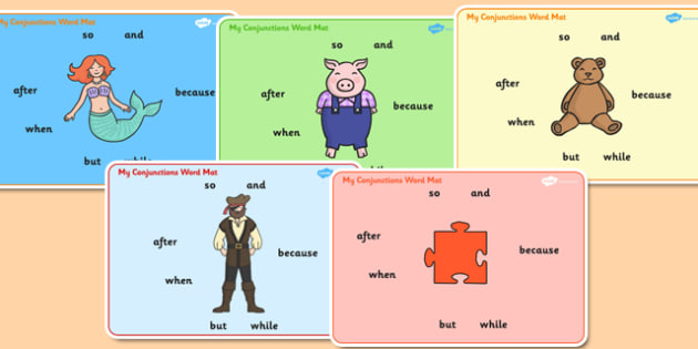 Connectives Word Mats - Connective words, connectives,  VCOP, word mat, writing aid, and, so, but, after, then, finally, when, vcops, conjuntions
