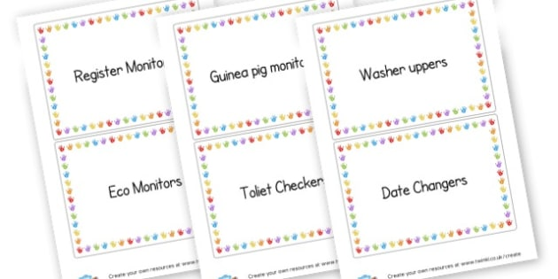 Jobs Labels - Drawer & Peg Name Labels Primary Resources, Name Label, Label, Peg