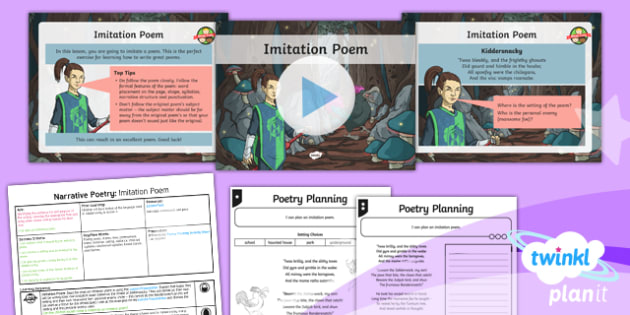 PlanIt Y5 Animals: Jabberwocky Lesson Pack Narrative Poetry (2)
