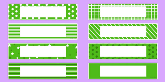 Gratnells Tray Labels Green - display, label, trays, gratnell