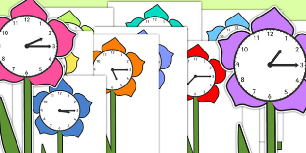 Quarter Past Times on Flowers - quarter past, times, flowers, quarter