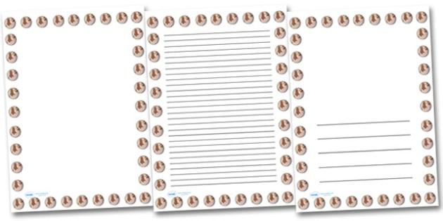 Pluto Portrait Page Borders- Portrait Page Borders - Page border, border, writing template, writing aid, writing frame, a4 border, template, templates, landscape