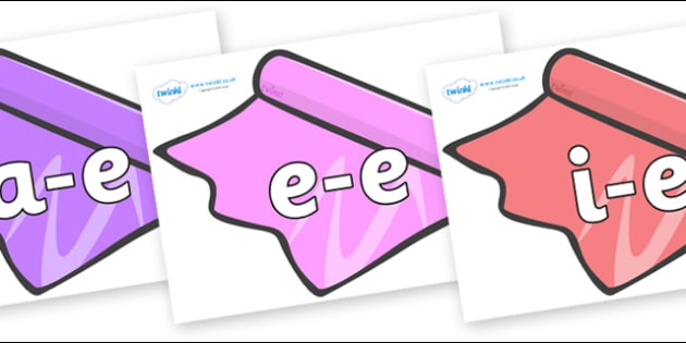 Modifying E Letters on Coloured Roll - Modifying E, letters, modify, Phase 5, Phase five, alternative spellings for phonemes, DfES letters and Sounds