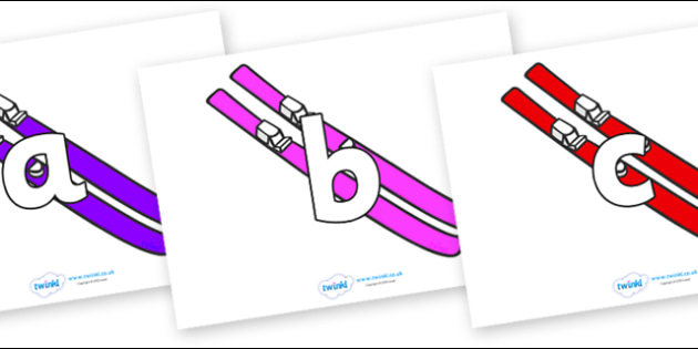 Phoneme Set on Skis - Phoneme set, phonemes, phoneme, Letters and Sounds, DfES, display, Phase 1, Phase 2, Phase 3, Phase 5, Foundation, Literacy