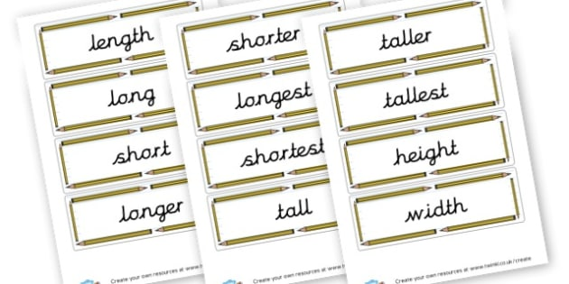 Measuring Length Cards - Measurement - New 2014 Curriculum, 2014, Maths, Measurment, Math