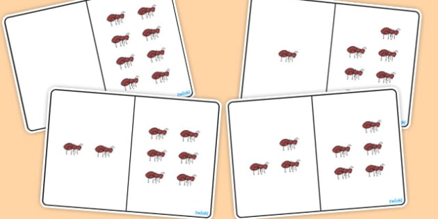 Ant Counting Number Bonds to 8 - counting, number, bonds, 8