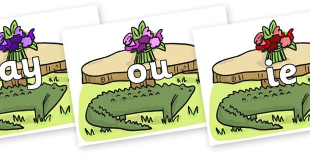 Phase 5 Phonemes on Trick Four to Support Teaching on The Enormous Crocodile - Phonemes, phoneme, Phase 5, Phase five, Foundation, Literacy, Letters and Sounds, DfES, display