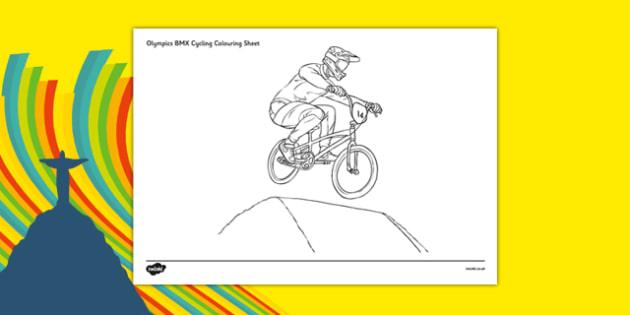 Rio 2016 Olympics BMX Cycling Colouring Sheets - rio 2016, 2016 olympics, rio olympics, bmx cycling, bmx, cycling, colouring sheets
