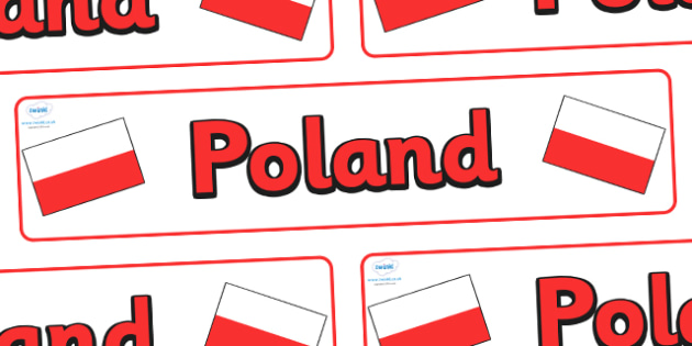 Poland Display Banner - Poland, Olympics, Olympic Games, sports, Olympic, London, 2012, display, banner, sign, poster, activity, Olympic torch, flag, countries, medal, Olympic Rings, mascots, flame, compete, events, tennis, athlete, swimming