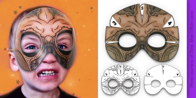 3D Halloween Scarecrow Monster Mask - 3d, halloween, scarecrow, monster, mask