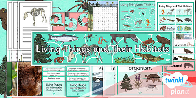 PlanIt - Science Year 4 - Living Things and Their Habitats Additional Resources - living things, habitats, variation, classification