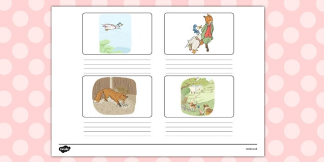 The Tale of Jemima Puddle-Duck Storyboard Template - jemima puddle-duck