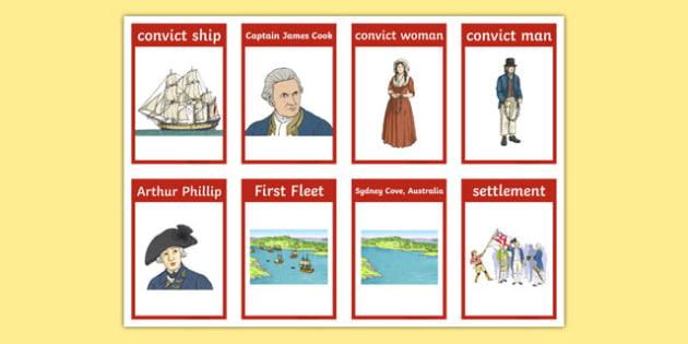 Australian Colonisation Flashcards - flash, cards, australia