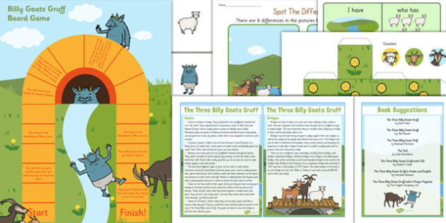 The Three Billy Goats Gruff Discovery Sack - discovery sack, goats