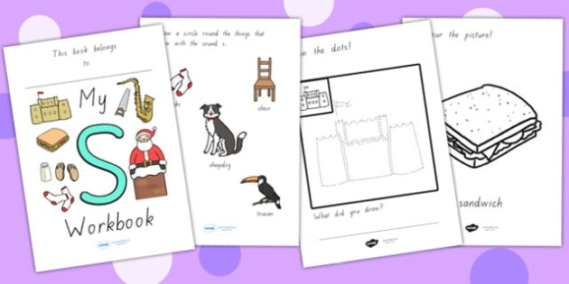 My Workbook S Lowercase - letter formation, writing, tracing