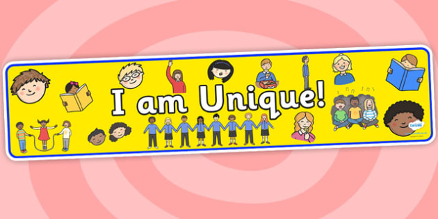 I Am Unique Display Banner 2 - I Am Unique, Unique, Unique Display Banner, I Am Unique Display Banner, Display, Me, Banner