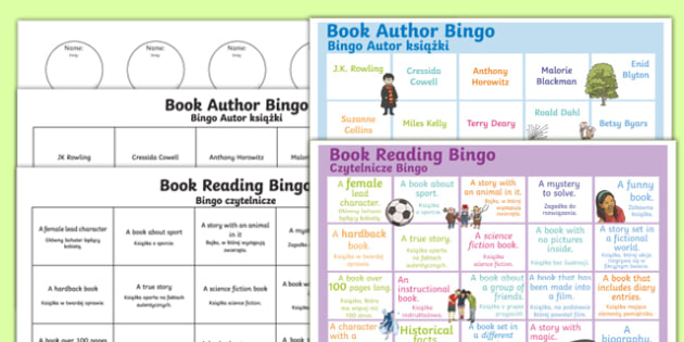 Book reading bingo Polish Translation