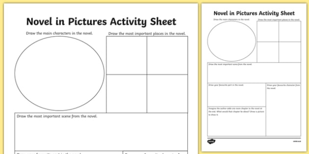 Novel in Pictures Activity Sheet-Irish, worksheet