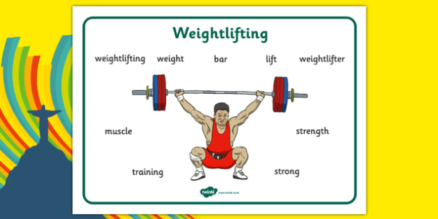 The Olympics Weightlifting Word Mat - the olympics, rio 2016, 2016 olympics rio olympics, weightlifting, word mat