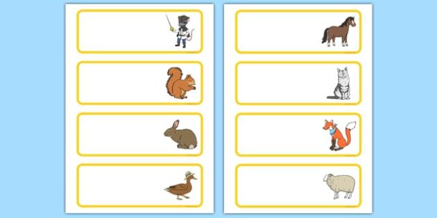 Bandit Rat Themed Editable Drawer Peg Name Labels - highway rat, bandit rat, julia donaldson, story book, drawer, peg, name, labels, display, highwayrat