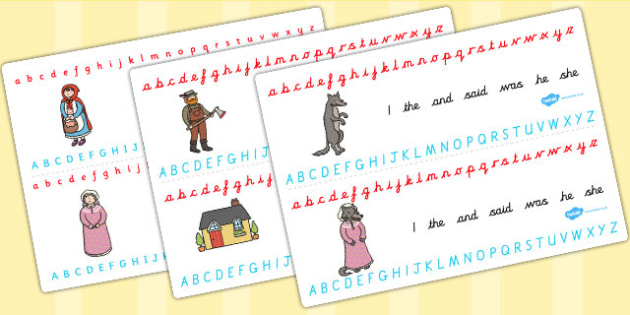 Little Red Riding Hood Alphabet Strips - alphabet, strips, red
