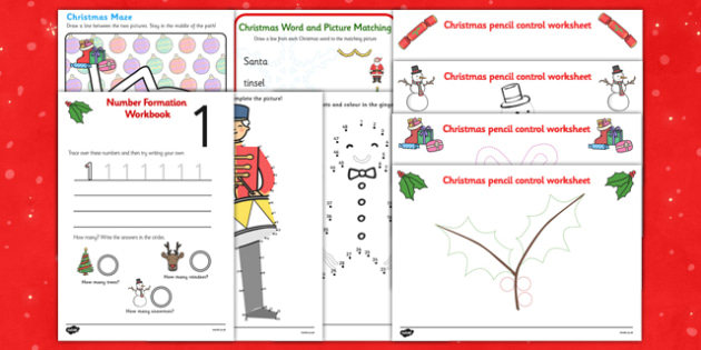Christmas Fine Motor Skills and Letter Formation Pack - christmas