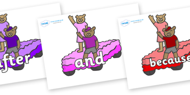 Connectives on Teddies - Connectives, VCOP, connective resources, connectives display words, connective displays