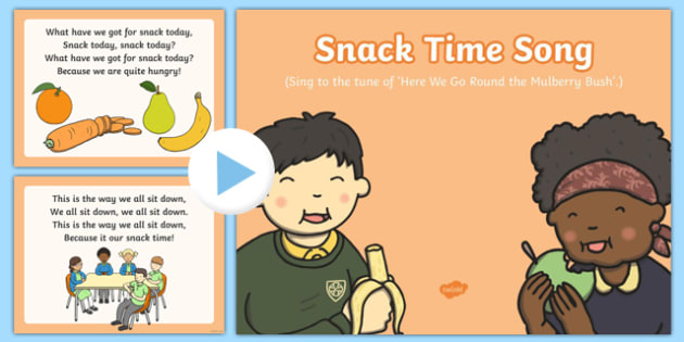 Snack Time Song PowerPoint